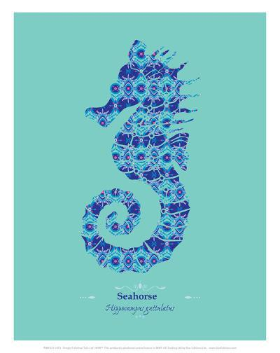 WWF Spiny Seahorse - Animal Tails-Annette D'Oyly-Art Print