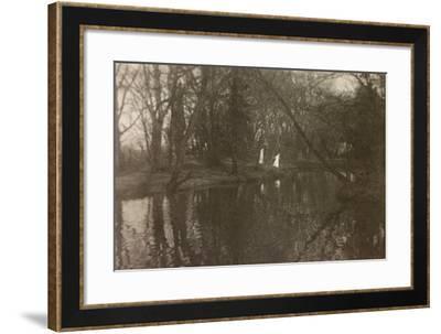 WWI: Due Crocerossine Nel Bosco--Framed Photographic Print