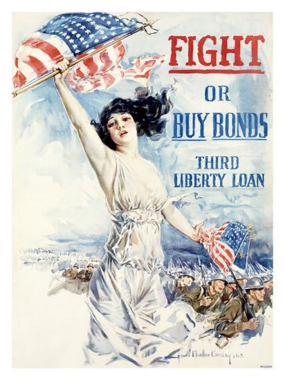 WWI, Fight Or Buy Liberty Bonds--Giclee Print