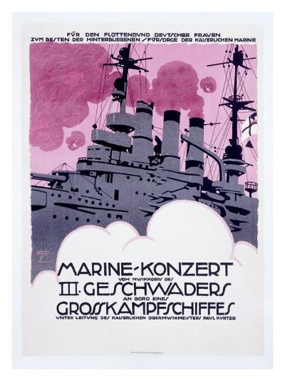 WWI, German Kriegsmarine Destroyer--Giclee Print