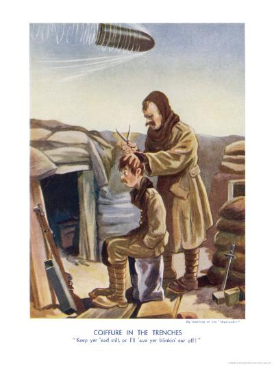 WWI Poster, Keep Yer 'Ead Still-Bruce Bairnsfather-Giclee Print