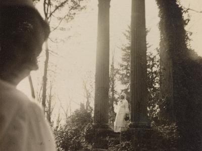 WWI: Visit the Marquise in the Role of Red Cross Nurse to the Ruins of a Temple--Photographic Print