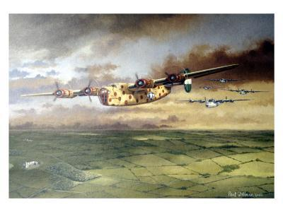 WWII, AAF B-24D Consolidated Bomber-Paul Wollman-Giclee Print