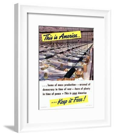 WWII Aviation 'This Is America'--Framed Giclee Print