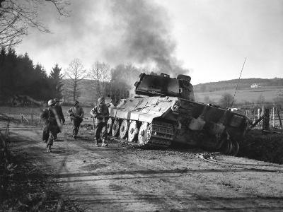 WWII Battle of the Bulge-Peter J^ Carroll-Photographic Print