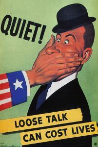 WWII: Careless Talk Poster