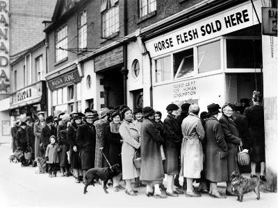 WWII Food Lines--Photographic Print