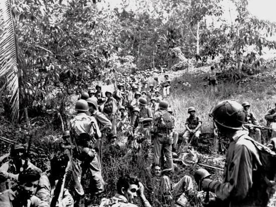 WWII Guadalcanal U.S. Marines--Photographic Print
