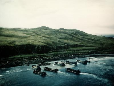 WWII Landing Operations at Kiska in the Aleutian Islands--Photographic Print