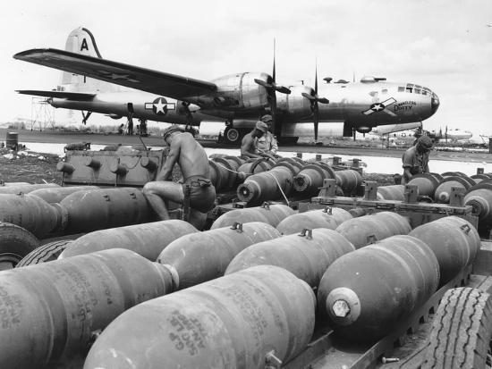 WWII Loading U.S. Bombers--Photographic Print