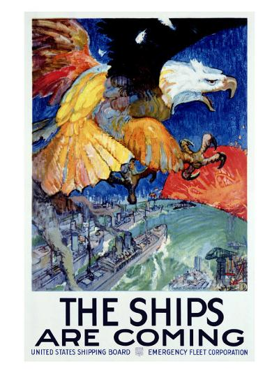 WWII, Merchant Marine Shipping--Giclee Print