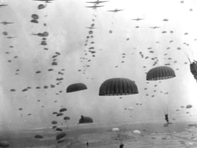 WWII Parachutes over Holland