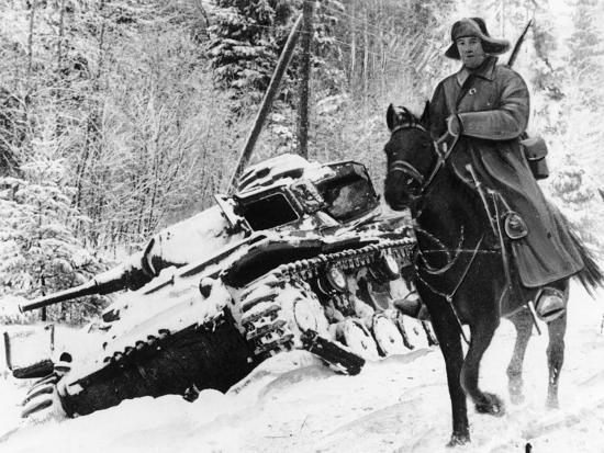 WWII Red Army Cavalry Rider--Photographic Print