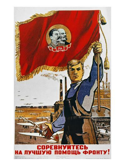WWII: Russian Poster, 1942--Giclee Print