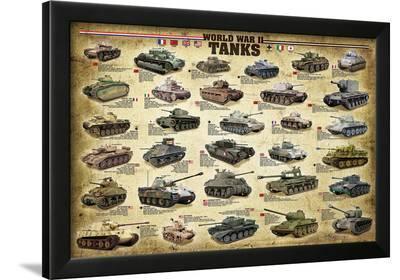 WWII Tanks--Framed Art Print