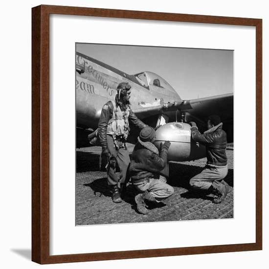 WWII: Tuskegee Airmen, 1945-Toni Frissell-Framed Premium Giclee Print