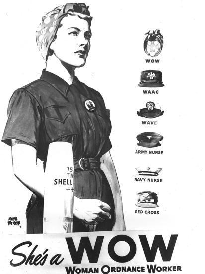 WWII U.S. Woman Ordnance Worker- U.S. Army Signal Corps-Photographic Print