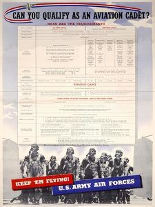 WWII US Army Air Forces Recruiting Poster