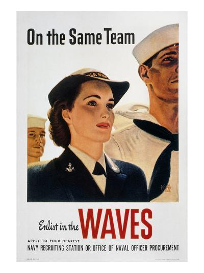 WWII: Waves Poster--Giclee Print