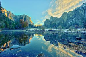 El Capitan and Three Brothers Reflection, Yosemite by www.35mmNegative.com