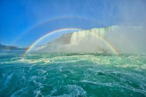 The Rainbow Bridge and Two Rainbows by www.35mmNegative.com
