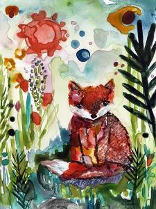 Baby Fox in the Garden by Wyanne