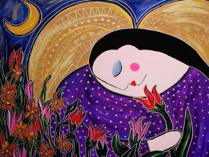 Big Diva Angel with Flowers by Wyanne