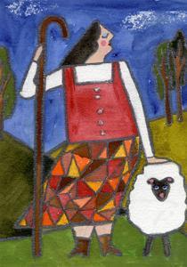 Big Diva Bo Peep and Sheep by Wyanne