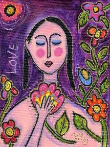 Big Diva Flower Goddess by Wyanne
