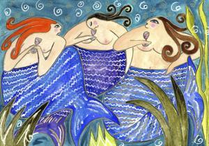 Big Diva Mermaid Wine Club by Wyanne