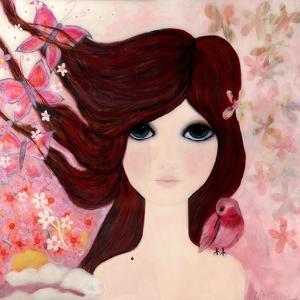 Big Eyed Girl Emerging by Wyanne