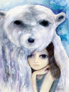 Big Eyed Girl Solitude by Wyanne