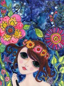 Big Eyed Girl Spellbound by Wyanne