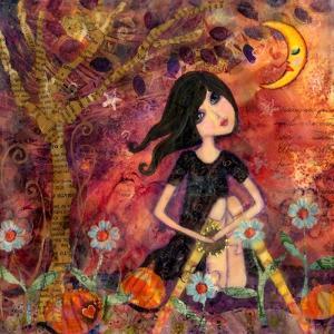 Big Eyed Tambourine Girl by Wyanne