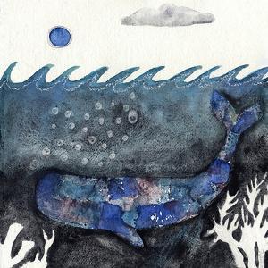 Blue Moon Whale by Wyanne