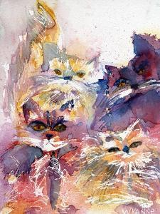 Four Kitties by Wyanne