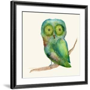 Green Owl by Wyanne