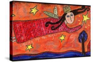 Lighting Up the Night Folk Angel by Wyanne