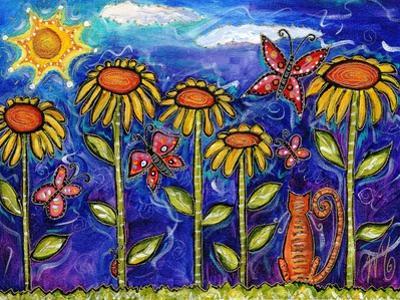 Sundown Sunflowers by Wyanne