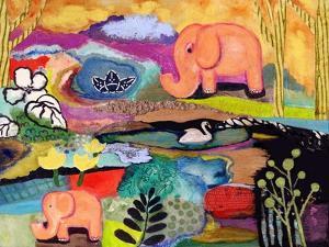 Watchful Eye Elephants by Wyanne