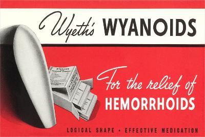 Wyanoids Hemorrhoidd Medication--Art Print
