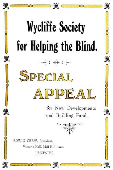 'Wycliffe Society for Helping the Blind', 1919-Unknown-Giclee Print
