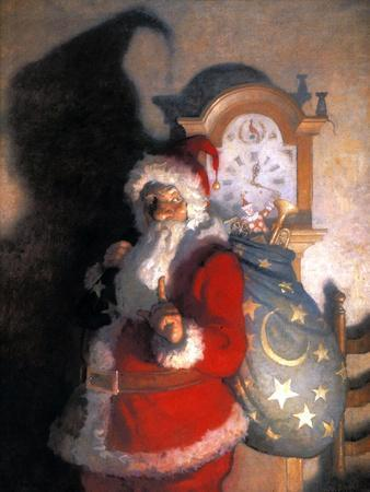 Wyeth: Old Kris (Kringle)-Newell Convers Wyeth-Giclee Print
