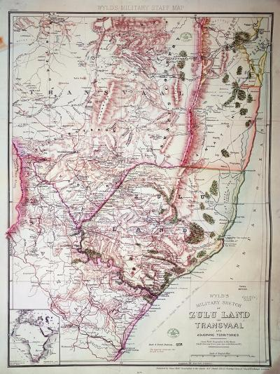 Wyld's Military Sketch of Zululand, 1879-James Wyld the Elder-Giclee Print