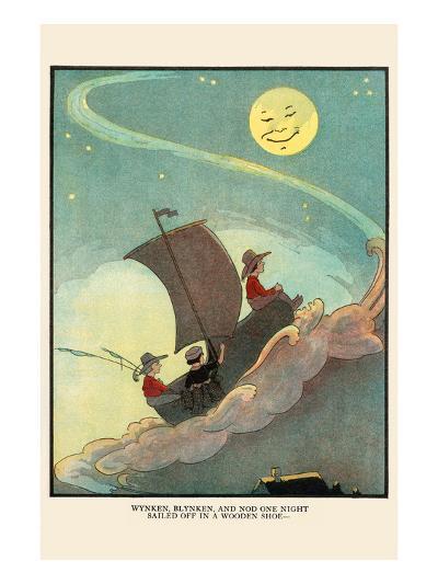 Wynken, Blynken, and Nod Sailed Off in a Wooden Shoe-Eugene Field-Art Print