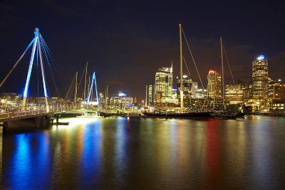 Wynyard Crossing Bridge and Cbd, Auckland Waterfront, North Island, New Zealand-David Wall-Photographic Print