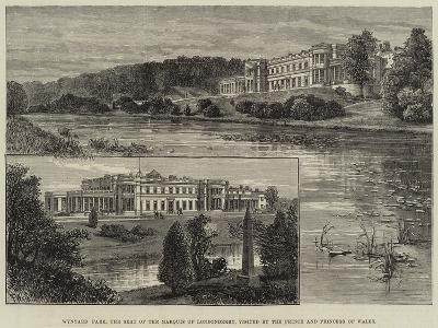 Wynyard Park, the Seat of the Marquis of Londonderry, Visited by the Prince and Princess of Wales-Frank Watkins-Giclee Print