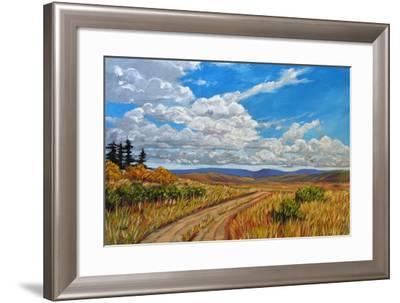 Wyoming Backroad near Vedauwoo, Wyoming-Patty Baker-Framed Art Print