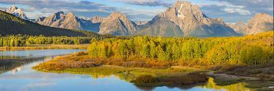 Wyoming, Grand Teton National Park. Panorama of Sunrise on Snake River-Jaynes Gallery-Photographic Print