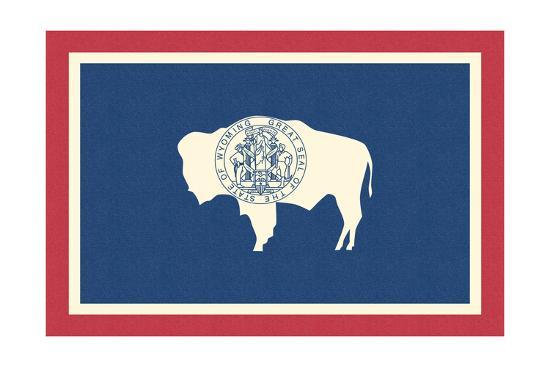 Wyoming State Flag-Lantern Press-Art Print